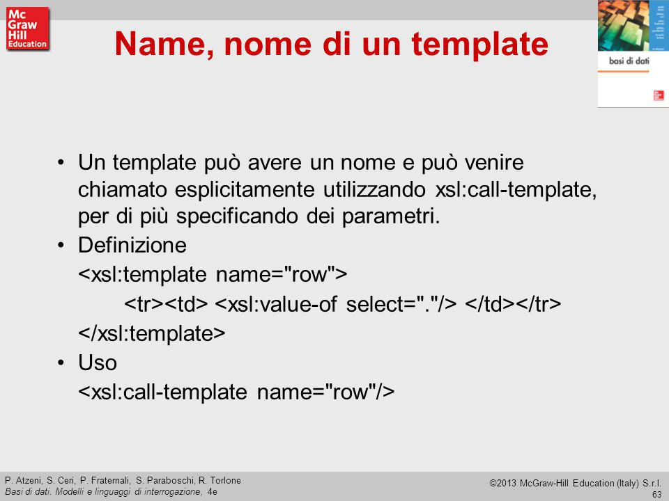 Name, nome di un template