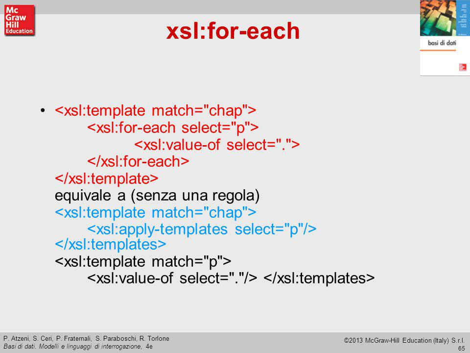 xsl:for-each <xsl:template match= chap >