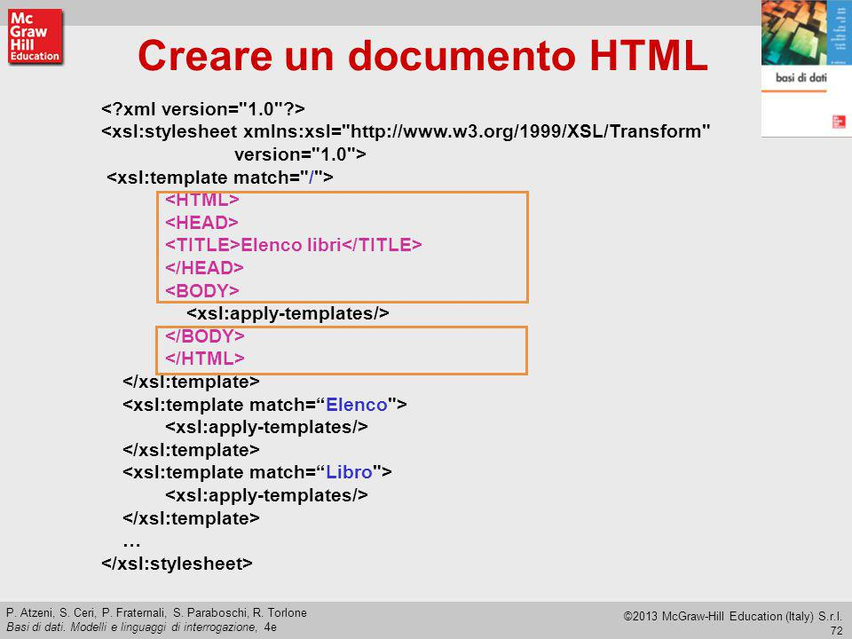 Creare un documento HTML