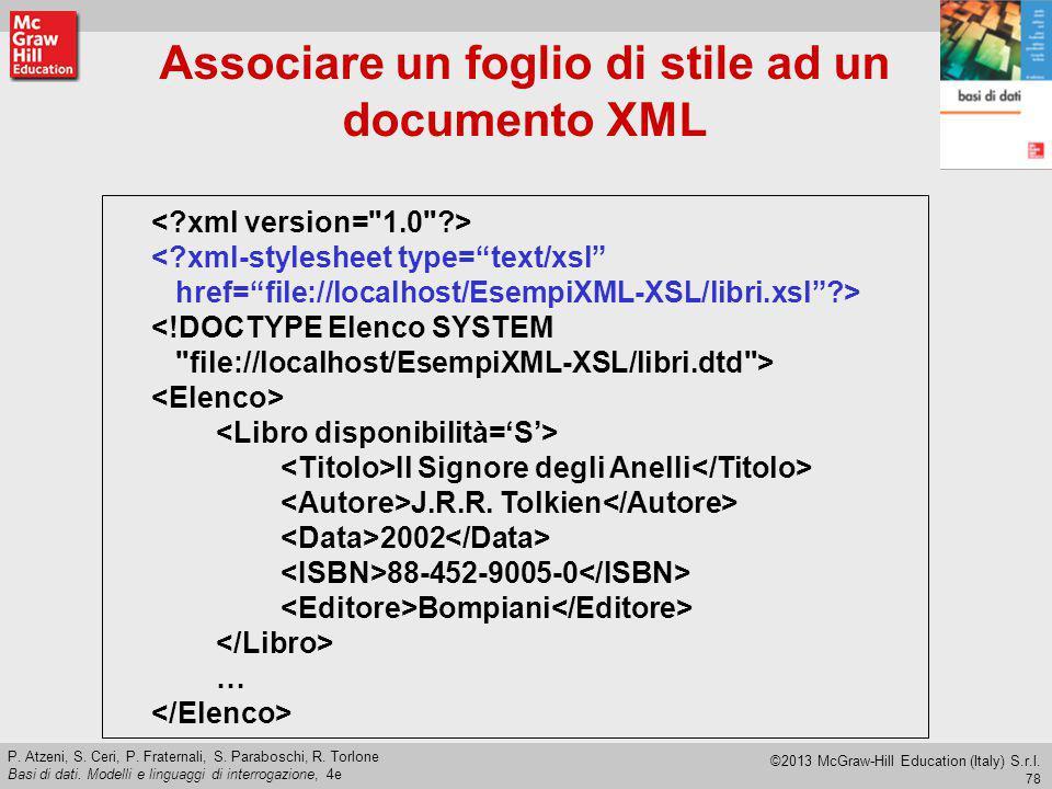 Associare un foglio di stile ad un documento XML