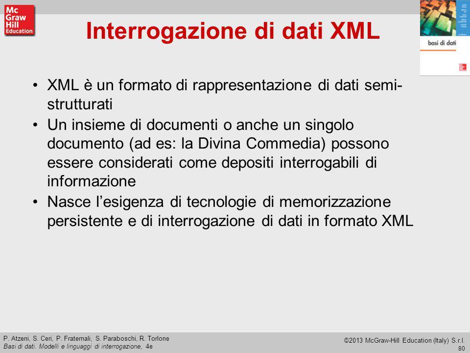 Interrogazione di dati XML