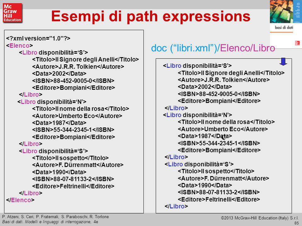 Esempi di path expressions