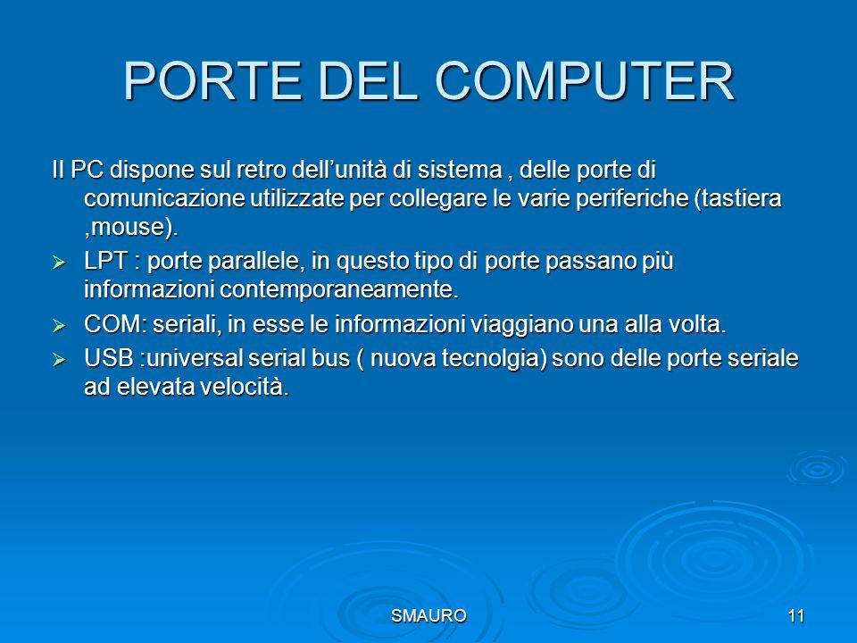PORTE DEL COMPUTER