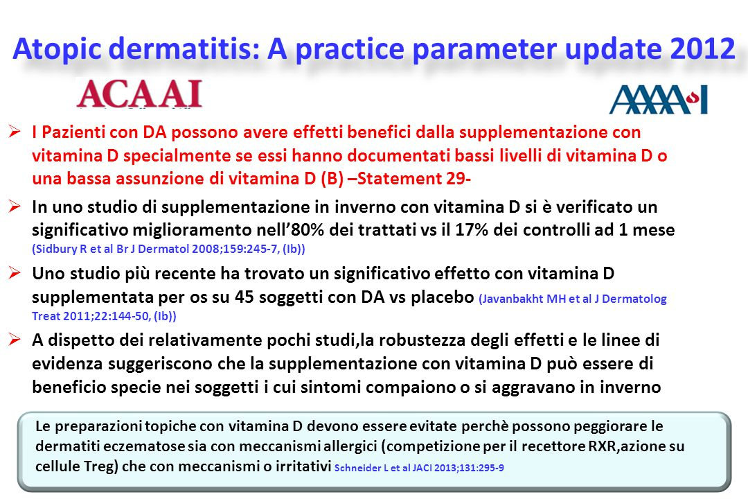 Atopic dermatitis: A practice parameter update 2012