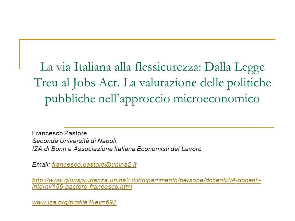 La via Italiana alla flessicurezza: Dalla Legge Treu al Jobs Act