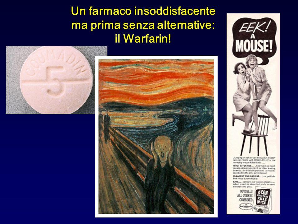 Un farmaco insoddisfacente ma prima senza alternative: il Warfarin!