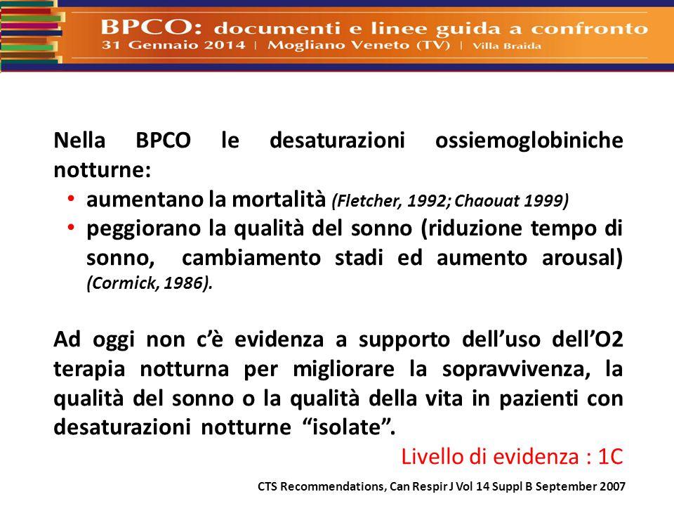 Nella BPCO le desaturazioni ossiemoglobiniche notturne: