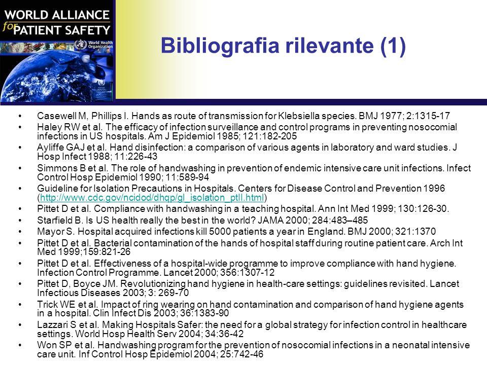 Bibliografia rilevante (1)