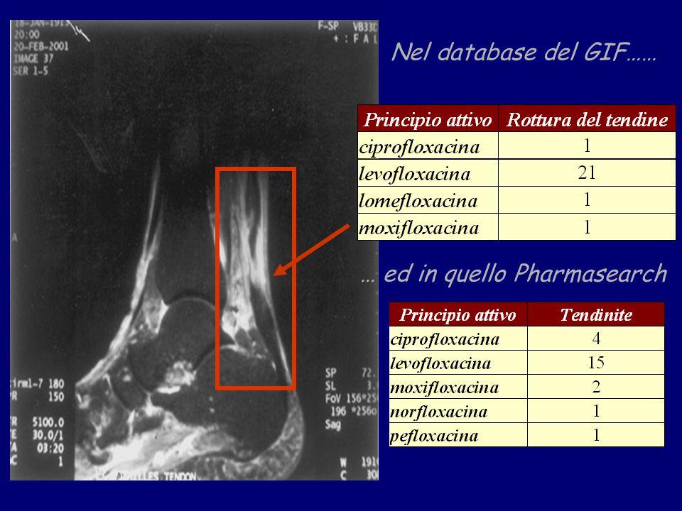 Nel database del GIF…… … ed in quello Pharmasearch