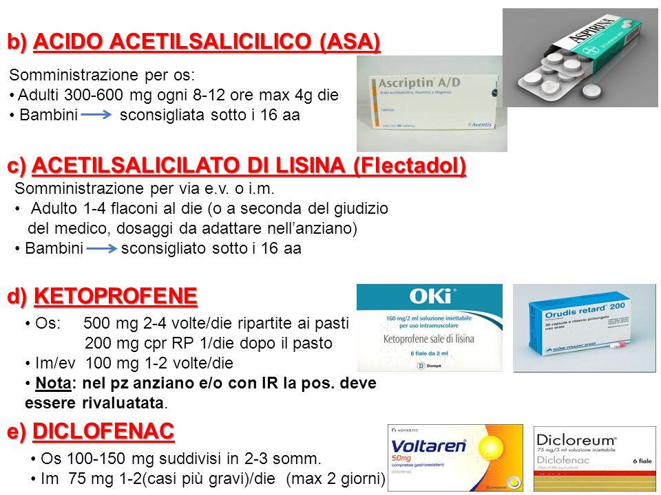 b) ACIDO ACETILSALICILICO (ASA)