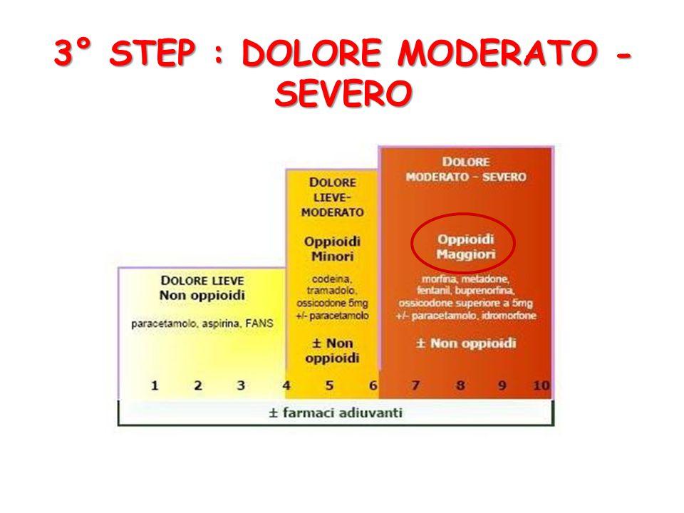 3° STEP : DOLORE MODERATO - SEVERO