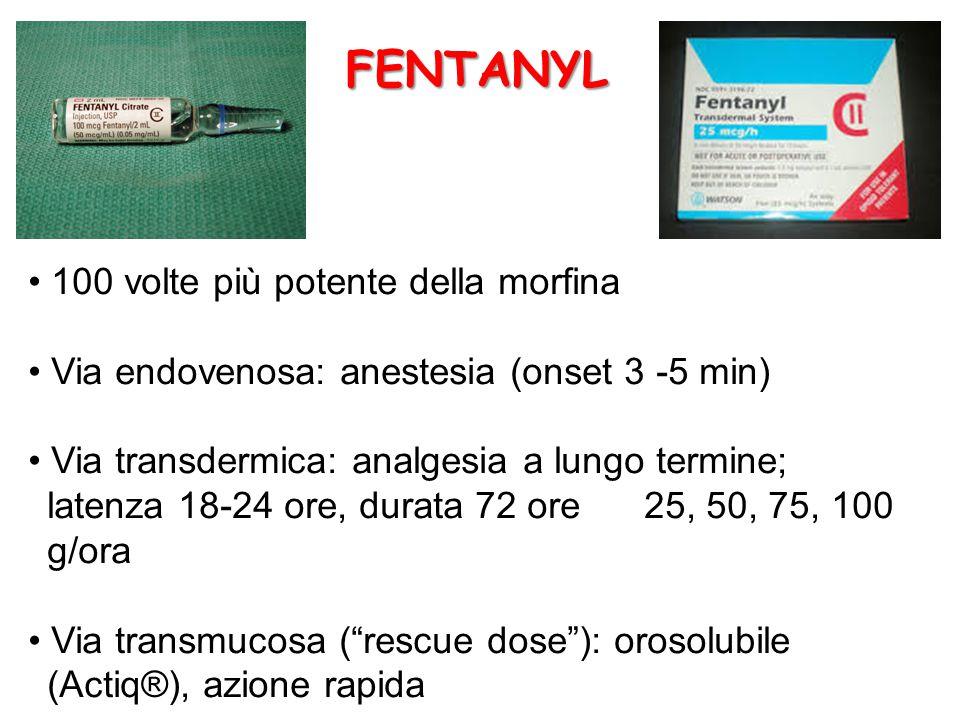 FENTANYL • 100 volte più potente della morfina