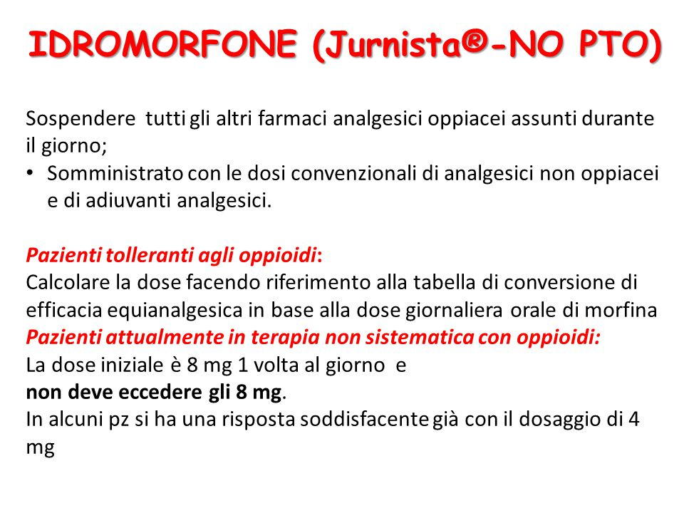 IDROMORFONE (Jurnista®-NO PTO)
