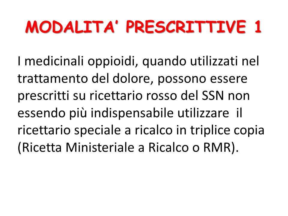 MODALITA' PRESCRITTIVE 1