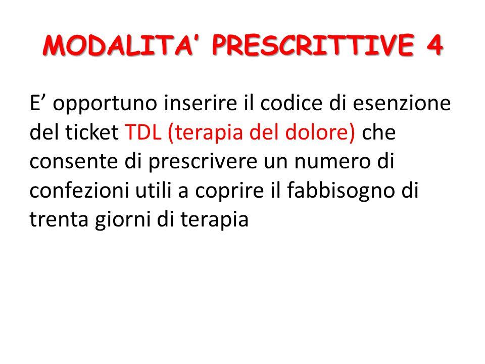 MODALITA' PRESCRITTIVE 4