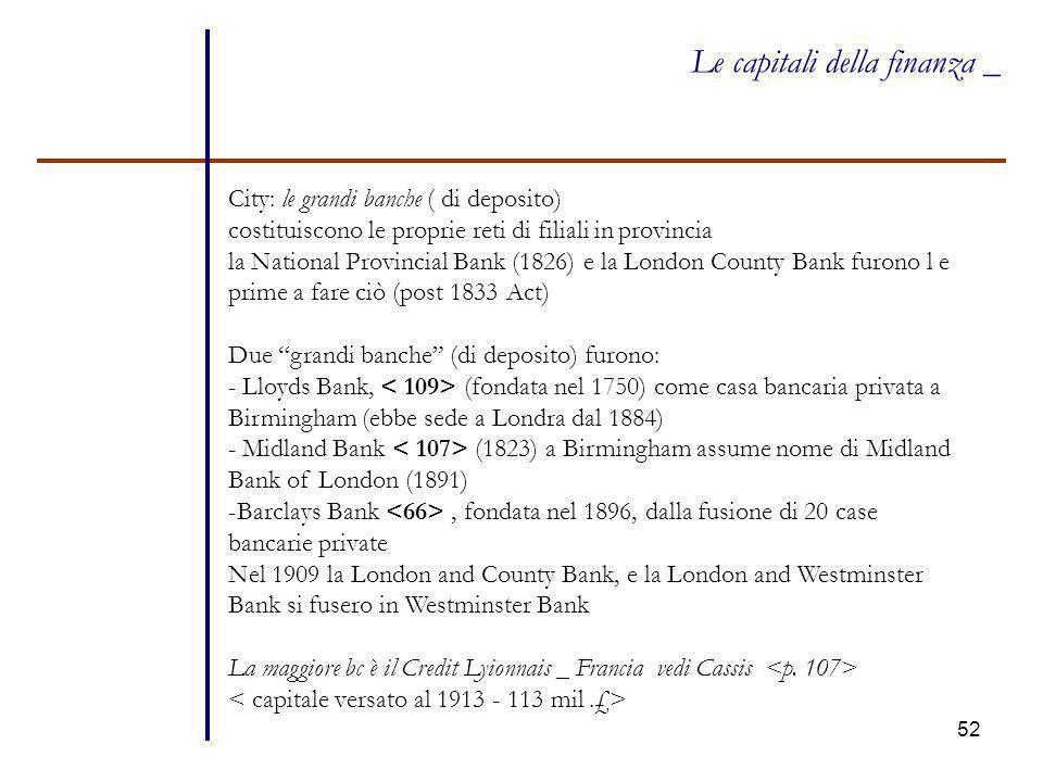 Le capitali della finanza _