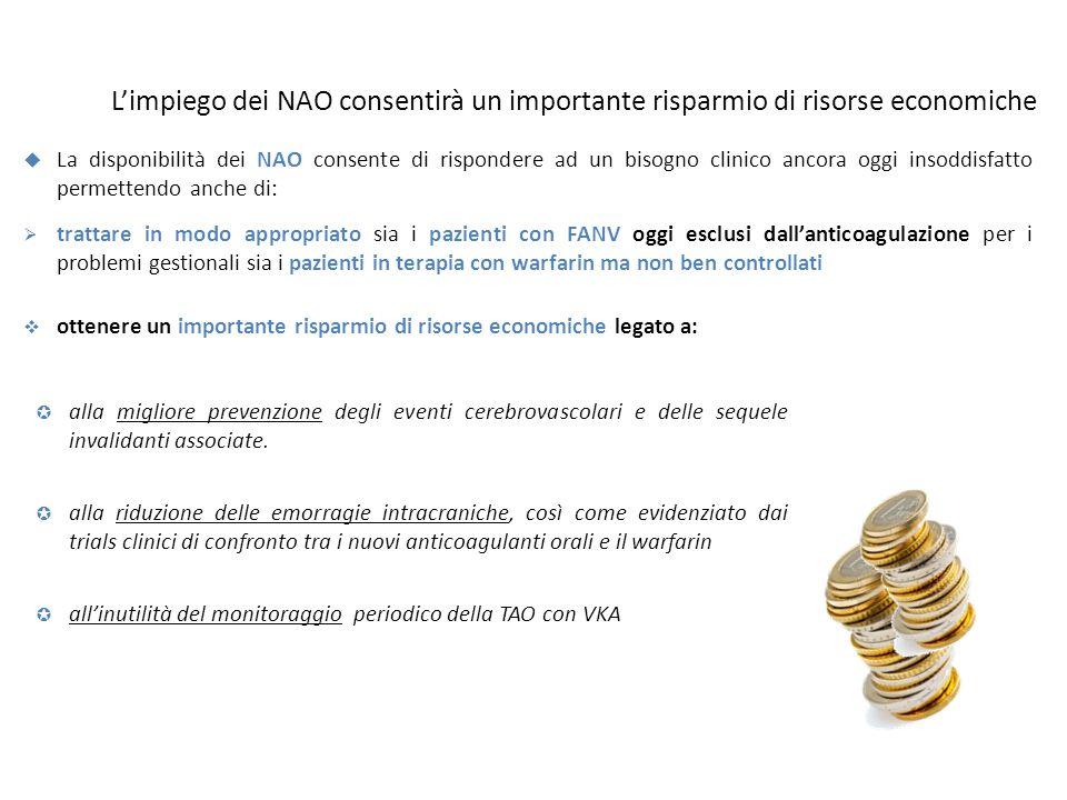 L'impiego dei NAO consentirà un importante risparmio di risorse economiche