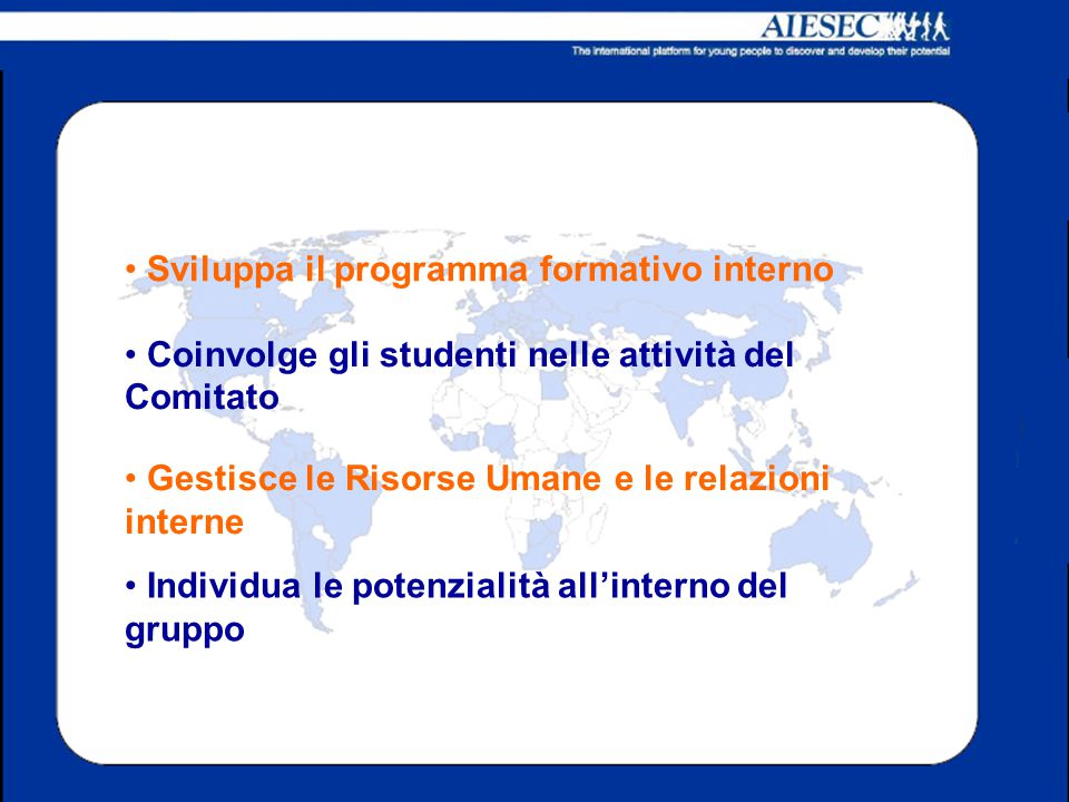 Sviluppa il programma formativo interno