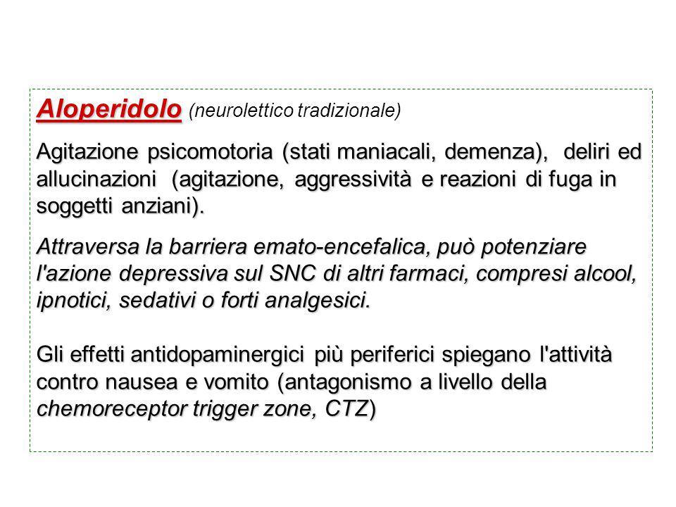 Aloperidolo (neurolettico tradizionale)