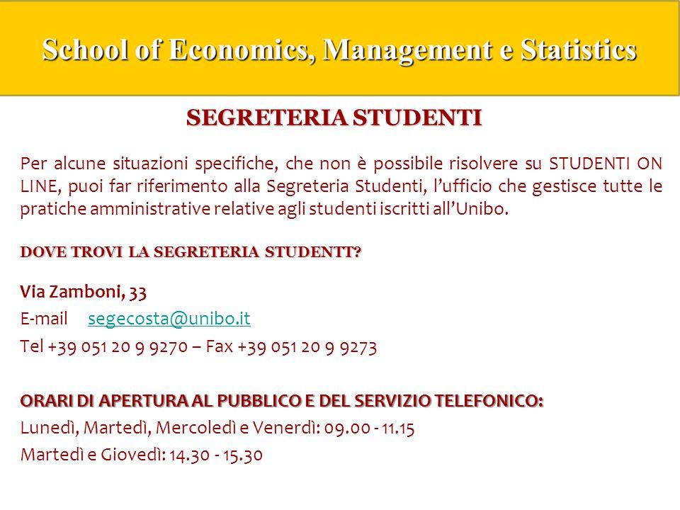 SEGRETERIA STUDENTI