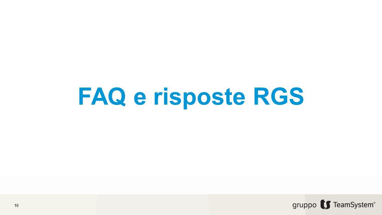 FAQ e risposte RGS