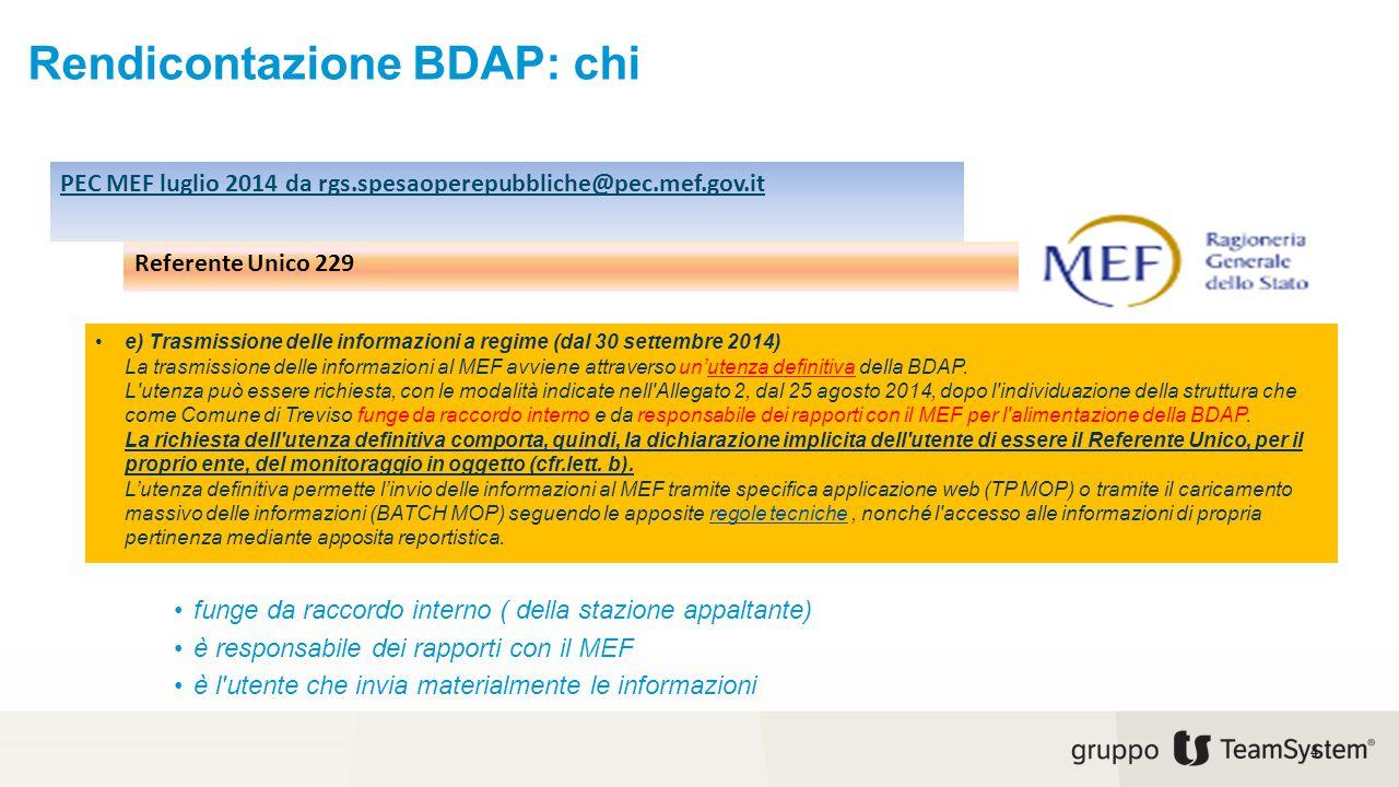 Rendicontazione BDAP: chi