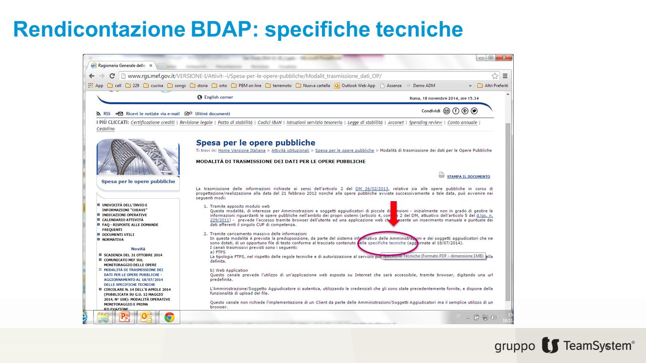 Rendicontazione BDAP: specifiche tecniche