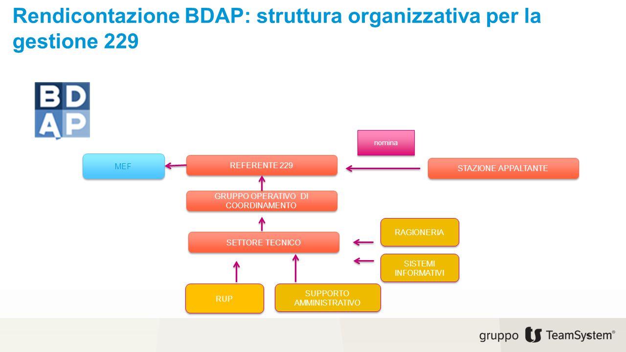 Rendicontazione BDAP: struttura organizzativa per la gestione 229