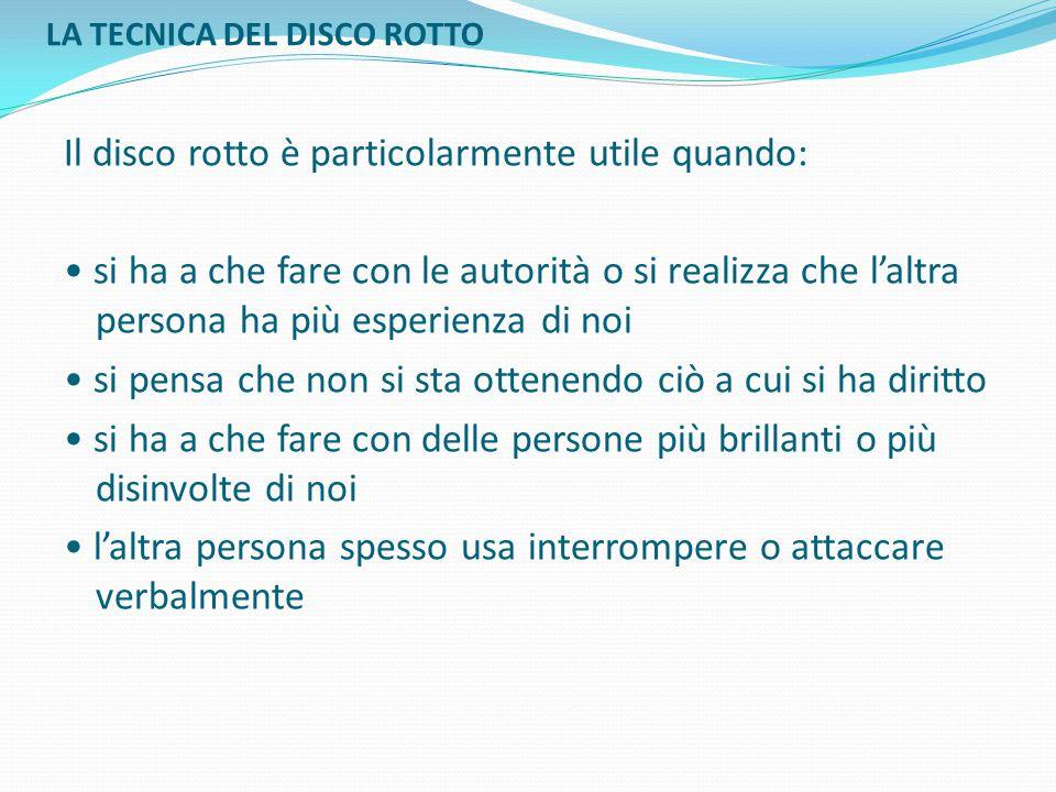 LA TECNICA DEL DISCO ROTTO