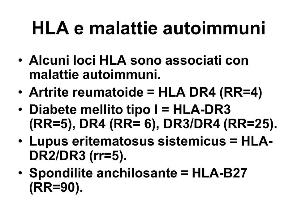 HLA e malattie autoimmuni
