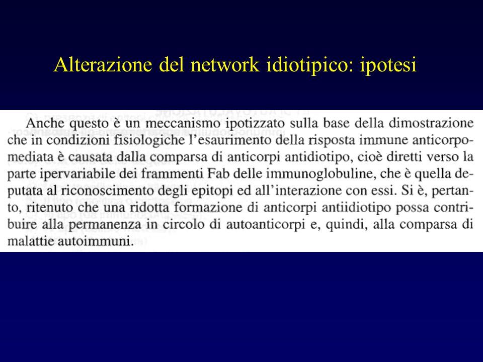 Alterazione del network idiotipico: ipotesi