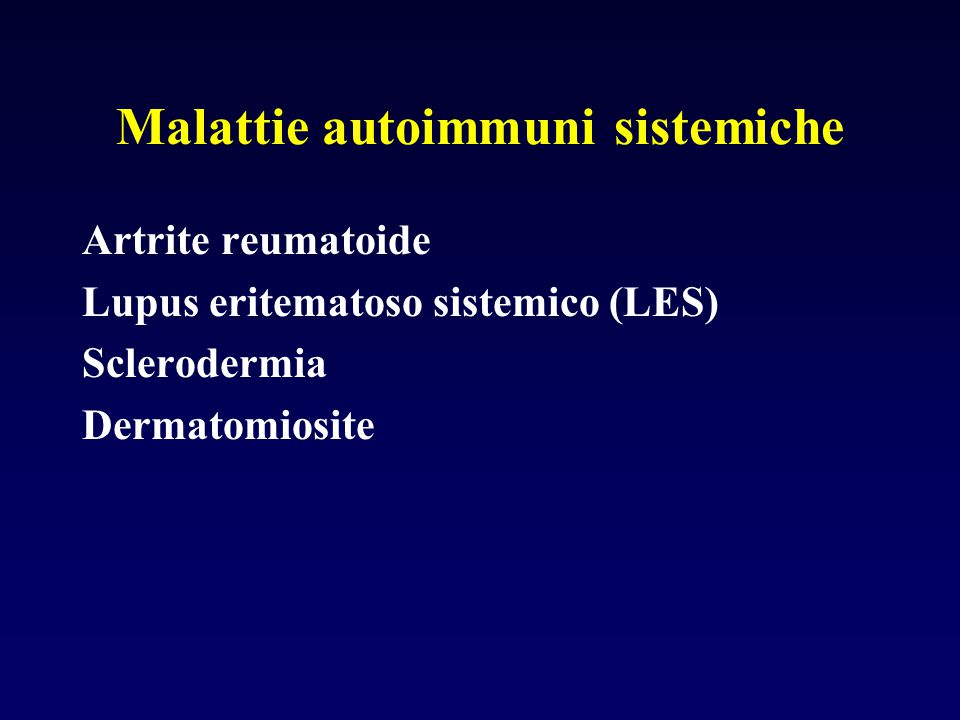 Malattie autoimmuni sistemiche