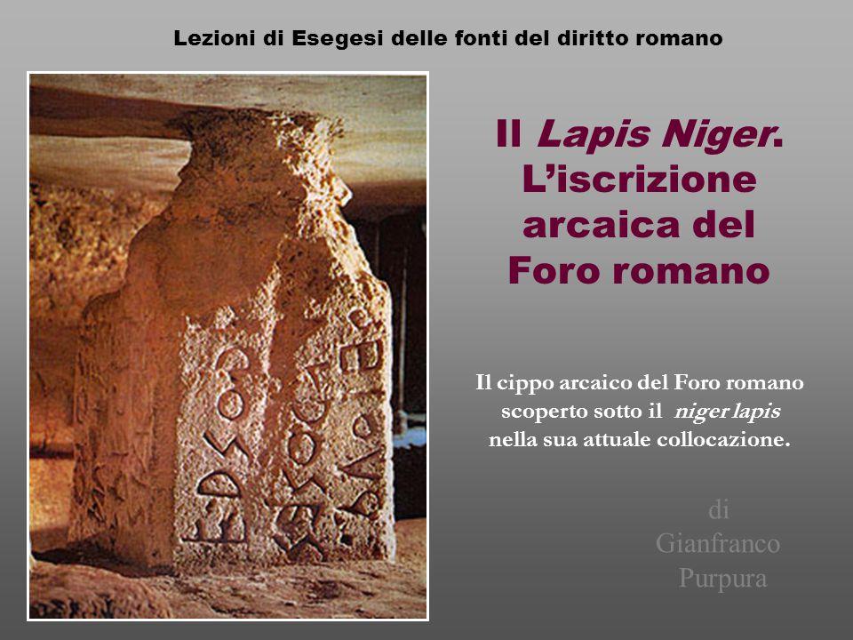 L'iscrizione arcaica del Foro romano