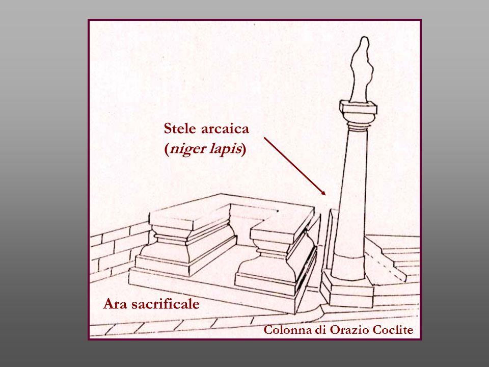 Stele arcaica (niger lapis) Ara sacrificale Colonna di Orazio Coclite