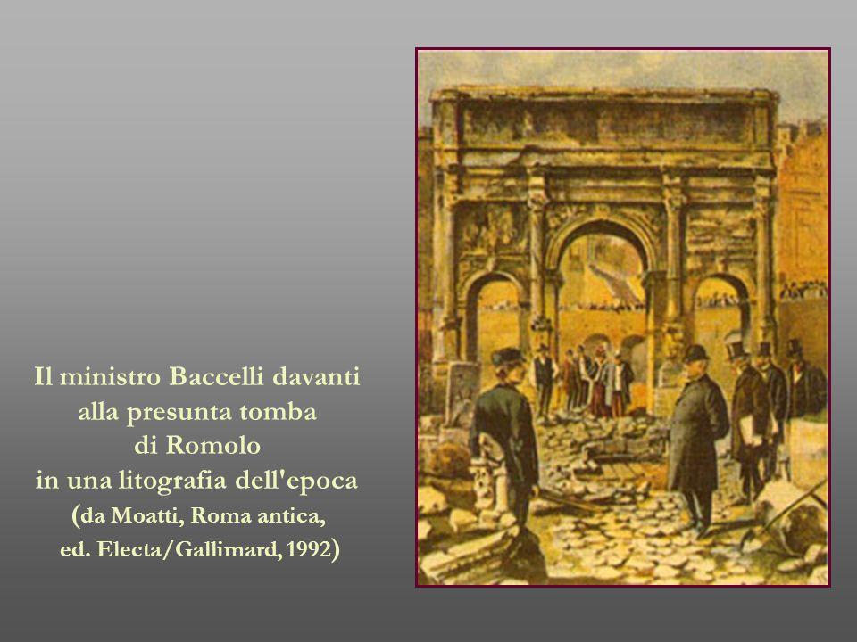 Il ministro Baccelli davanti in una litografia dell epoca