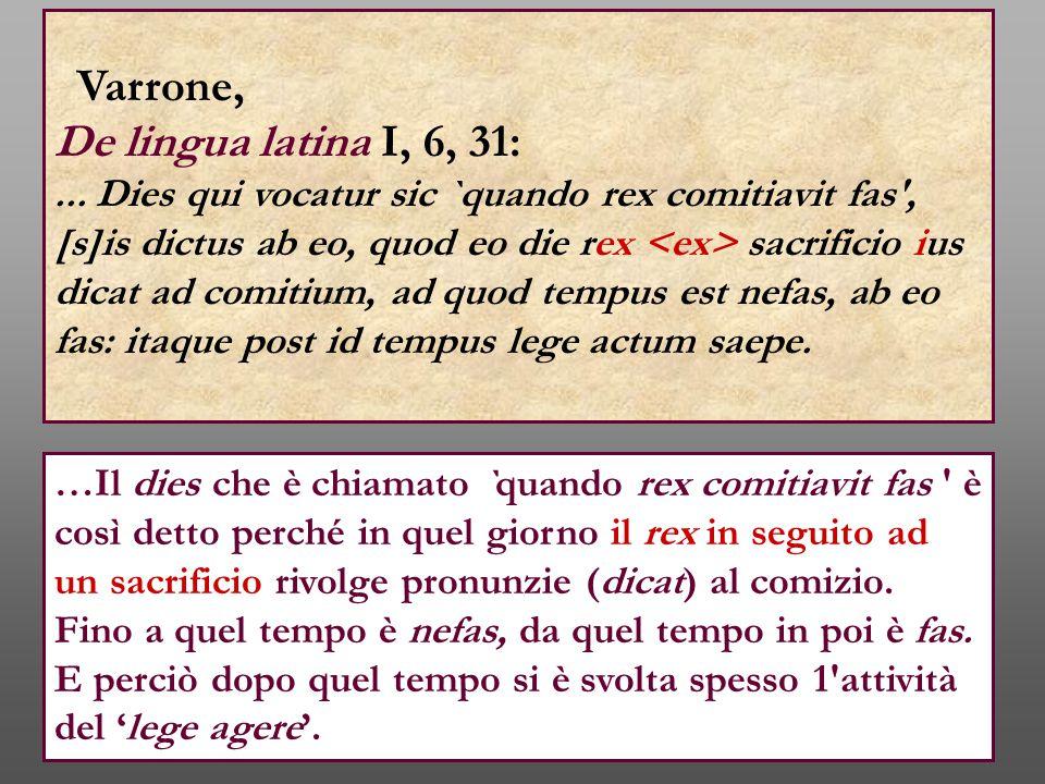 Varrone, De lingua latina I, 6, 31: