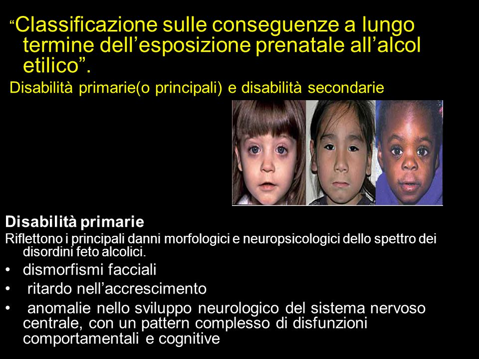 Disabilità primarie(o principali) e disabilità secondarie