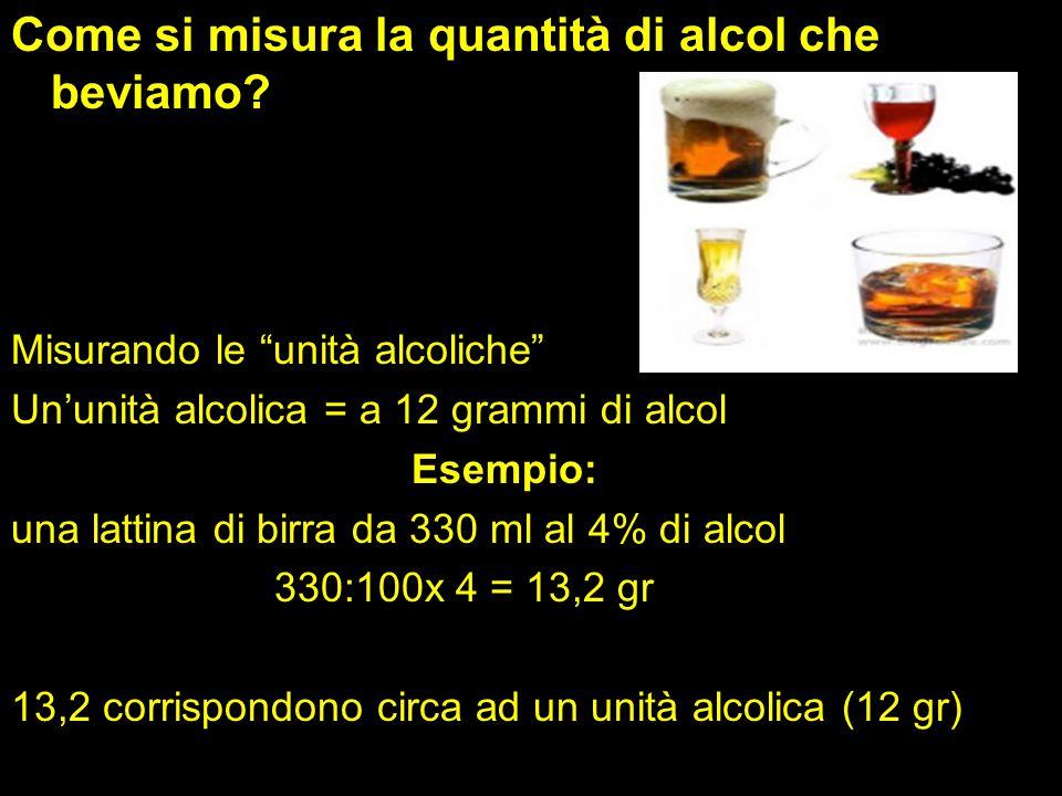 Come si misura la quantità di alcol che beviamo