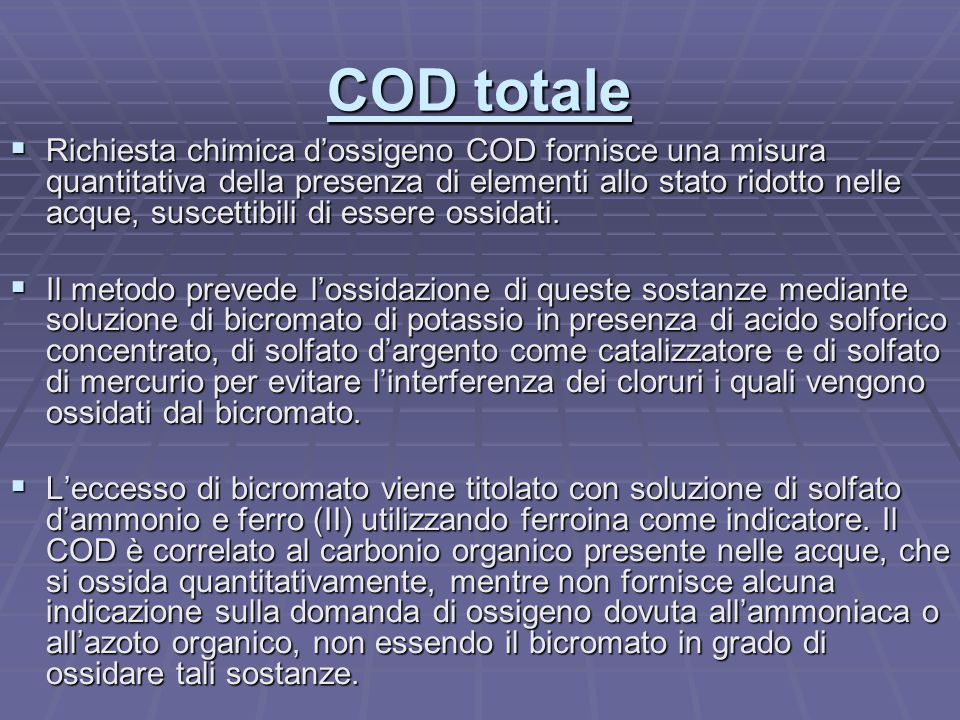 COD totale