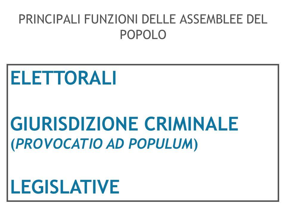 PRINCIPALI FUNZIONI DELLE ASSEMBLEE DEL POPOLO