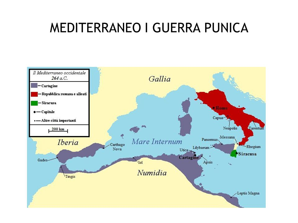 MEDITERRANEO I GUERRA PUNICA