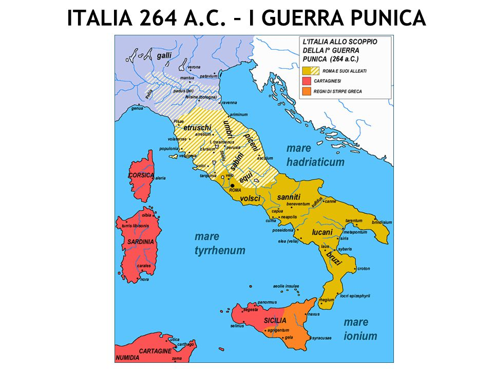 ITALIA 264 A.C. – I GUERRA PUNICA