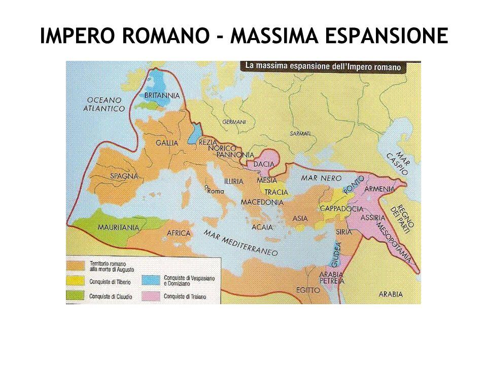 IMPERO ROMANO - MASSIMA ESPANSIONE