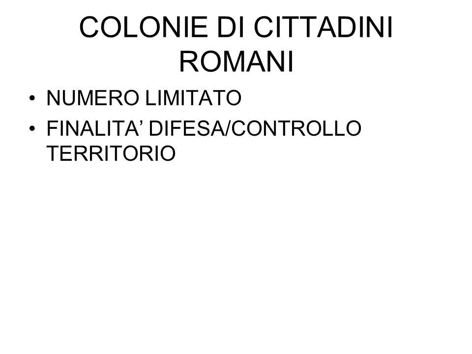 COLONIE DI CITTADINI ROMANI
