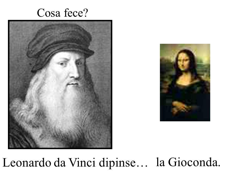 Leonardo da Vinci dipinse… la Gioconda.