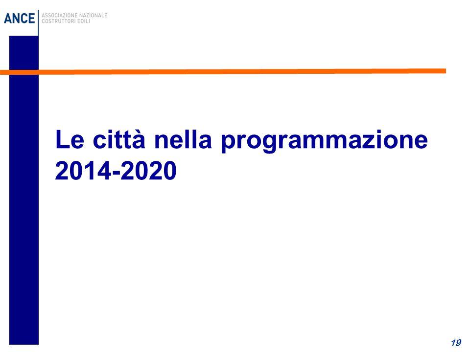 Le città nella programmazione 2014-2020