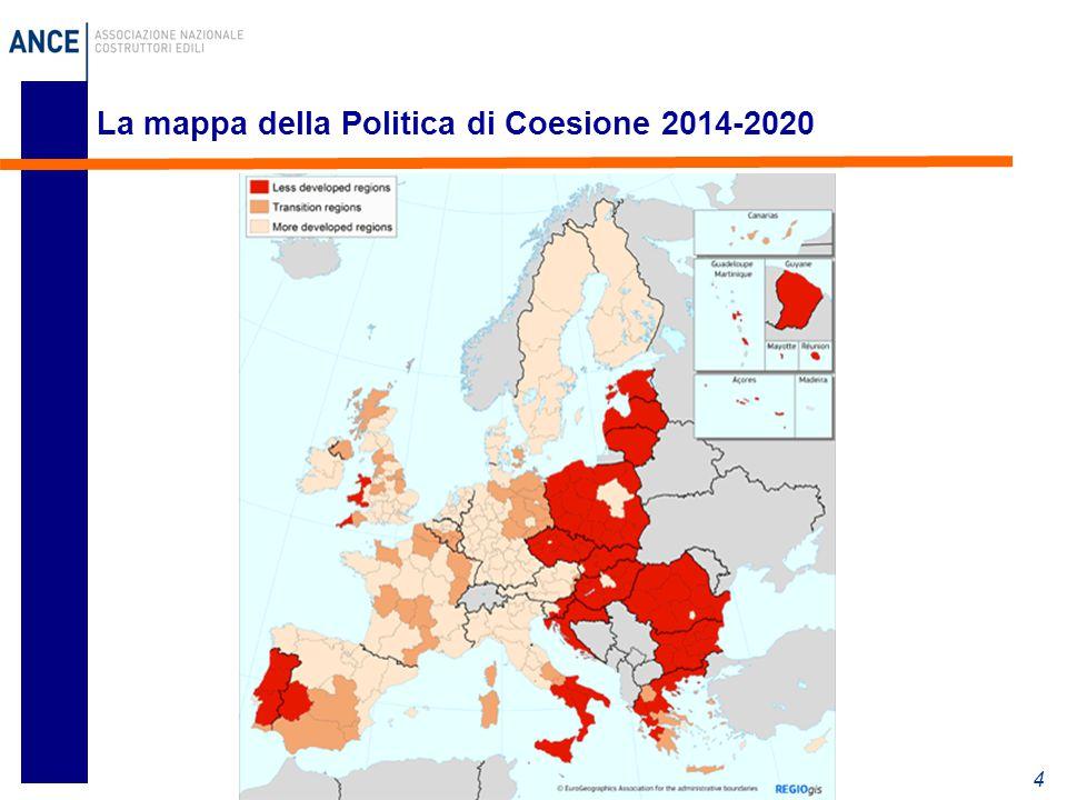 La mappa della Politica di Coesione 2014-2020