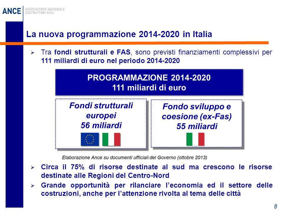 La nuova programmazione 2014-2020 in Italia