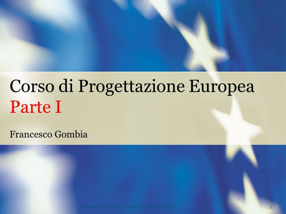 Corso di Progettazione Europea Parte I