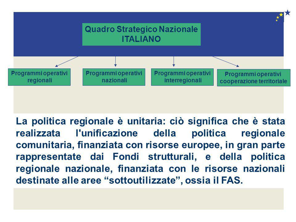 Quadro Strategico Nazionale cooperazione territoriale